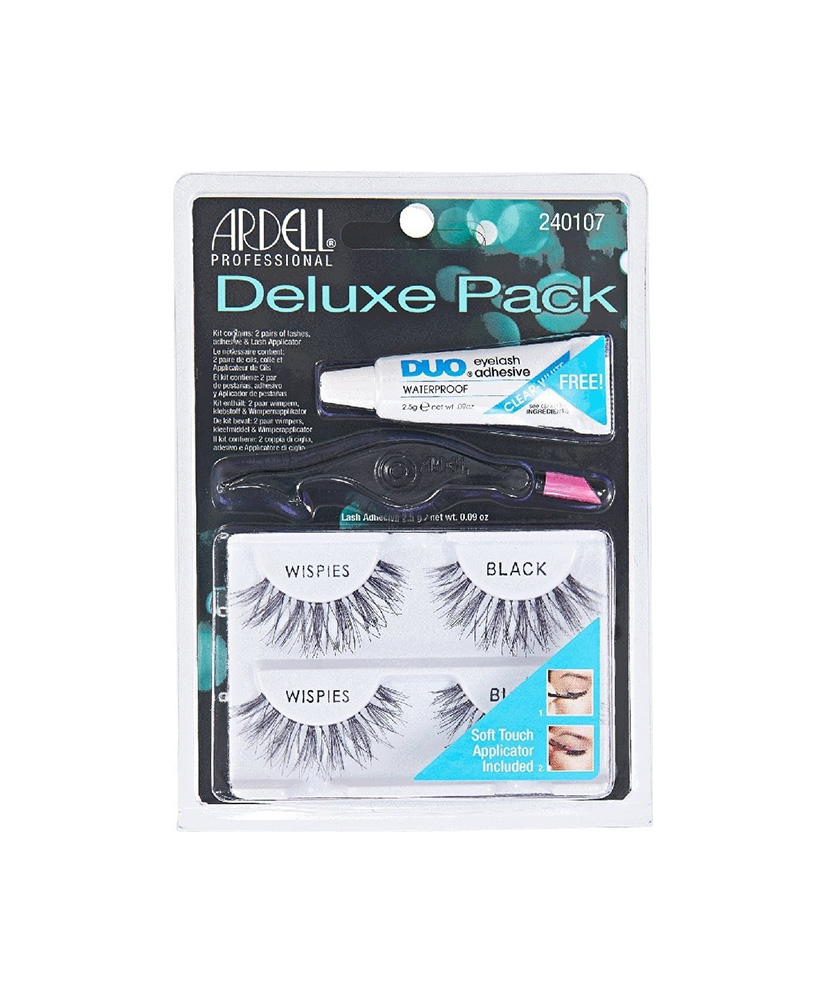 ARDELL DELUXE PACK WISPIES BLACK 2ΤΜΧ + ΚΟΛΛΑ 2,5GR + APPLICATOR