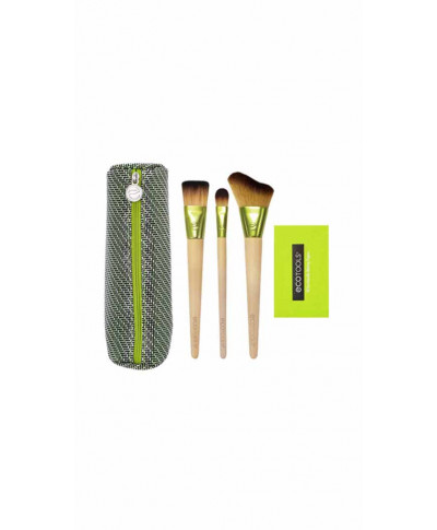 ECOTOOLS ΣΕΤ ΠΙΝΕΛΩΝ ΜΑΚΙΓΙΑΖ ΤΑΞΙΔΙΟΥ TRAVEL AND GLOW