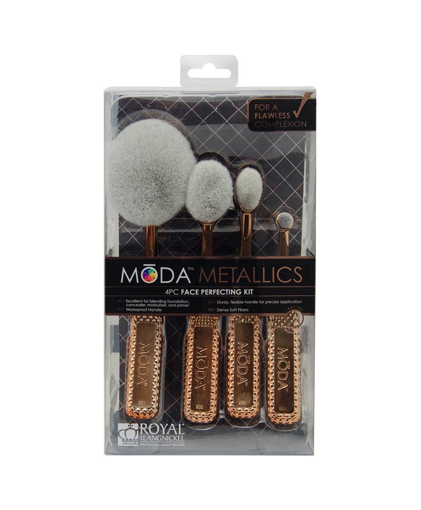 MODA METALLICS ΠΙΝΕΛΑ ΜΑΚΙΓΙΑΖ FACE PERFECTING KIT