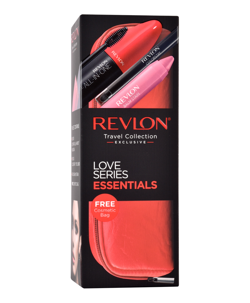 REVLON TRAVEL COLLECTION EXLUSIVE LOVE SERIES ESSENTIALS 5TMX