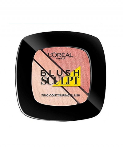 LOREAL ΡΟΥΖ TRIO BLUSH SCULPT No102 NUDE BEIGE