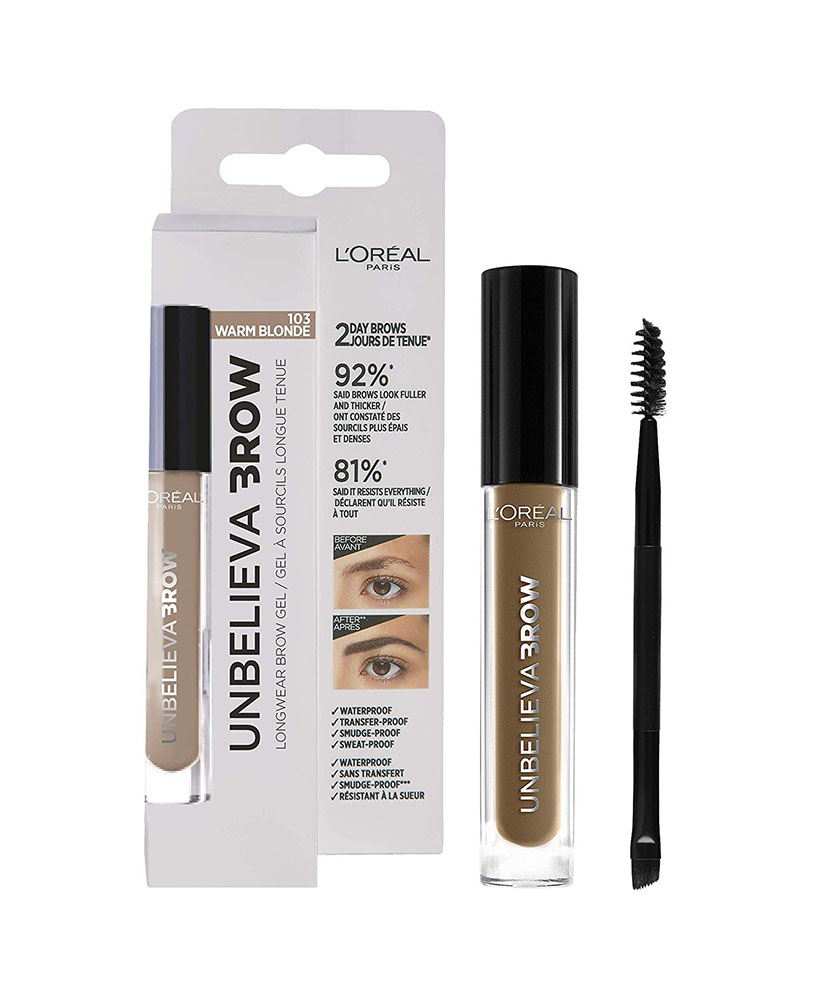 L'OREAL UNBELIEVA BROW GEL WARM BLONDE No 103