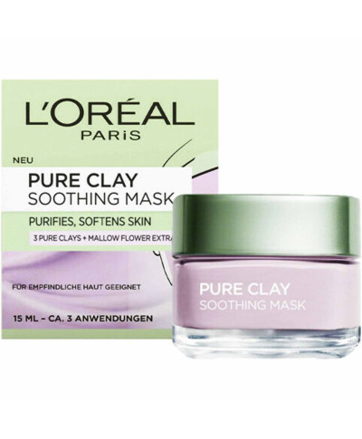 L'OREAL PURE CLAY ΜΑΣΚΑ ΠΡΟΣΩΠΟΥ SOOTHING 15ML