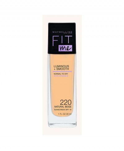 MAYBELLINE MAKE UP FIT ME LUMINOUS AND SMOOTH No 220 NATURAL BEIGE 30ml
