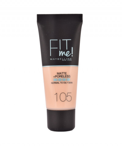 MAYBELLINE MAKE UP FIT ME MATTE AND PORELESS No 105 NATURAL IVORY  30ml