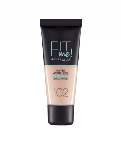 MAYBELLINE MAKE UP FIT ME MATTE AND PORELESS  No 102 FAIR IVORY 30ml