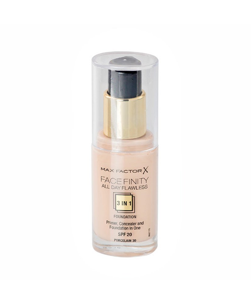 MAX FACTOR FOUNDATION FACE FINITY  3in1 SPF20 PORCELAIN 30,  30ml
