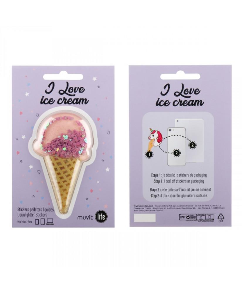 MUVIT LIFE STICKER ICE CREAM violet