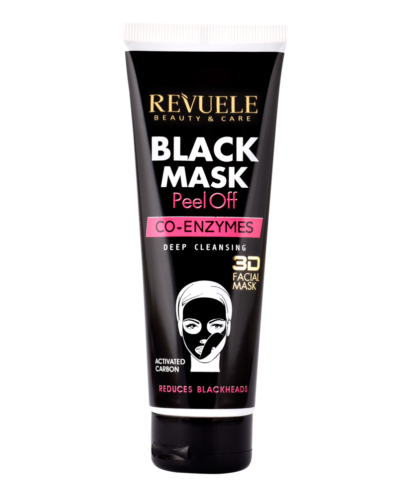 REVUELE BLACK MASK 3D FACIAL CO-ENZYMES 80ML