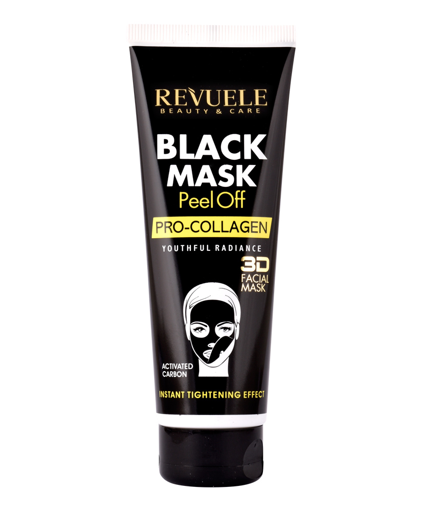 REVUELE BLACK MASK 3D FACIAL PRO-COLLAGEN 80ML
