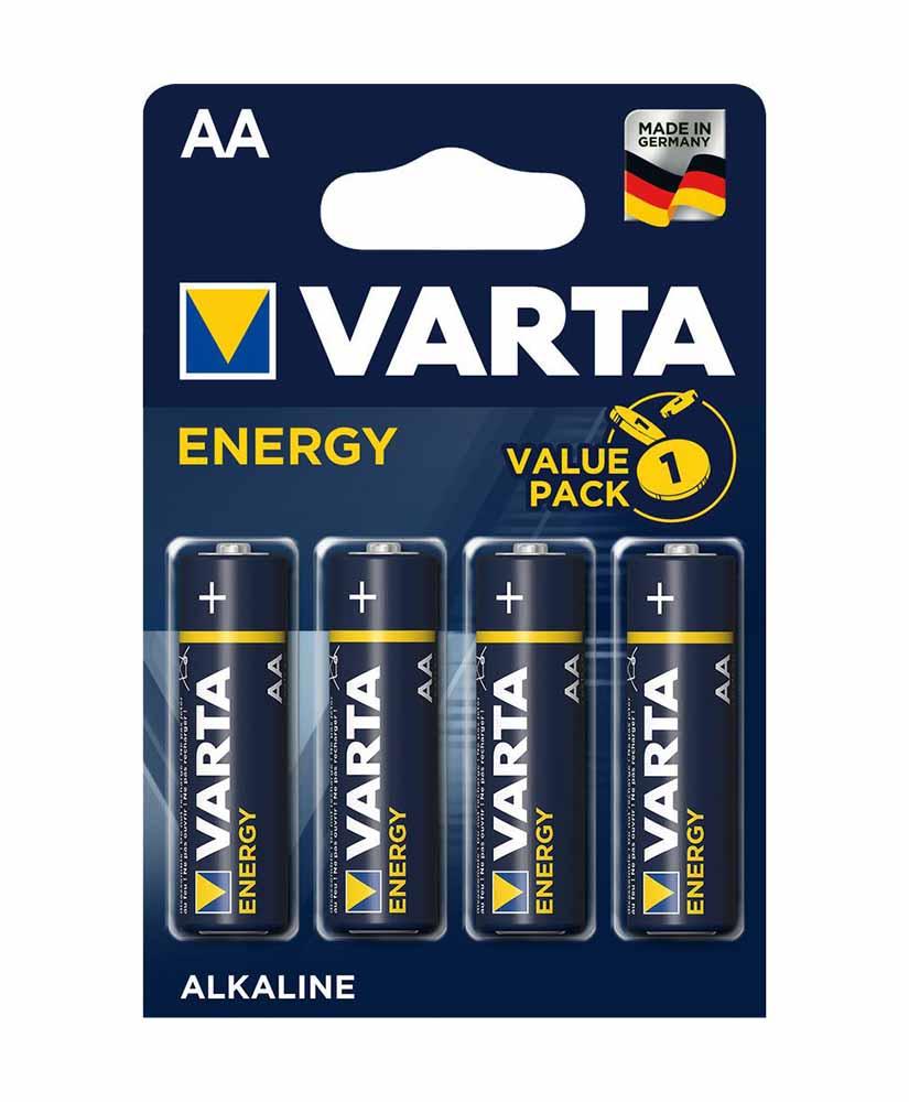 VARTA ENERGY ΜΠΑΤΑΡΙΑ ΑΛΚΑΛΙΚΗ ΑA 4 ΤΜΧ