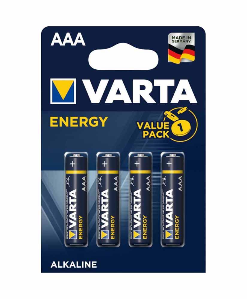 VARTA ENERGY ΜΠΑΤΑΡΙΑ ΑΛΚΑΛΙΚΗ ΑAΑ 4 ΤΜΧ