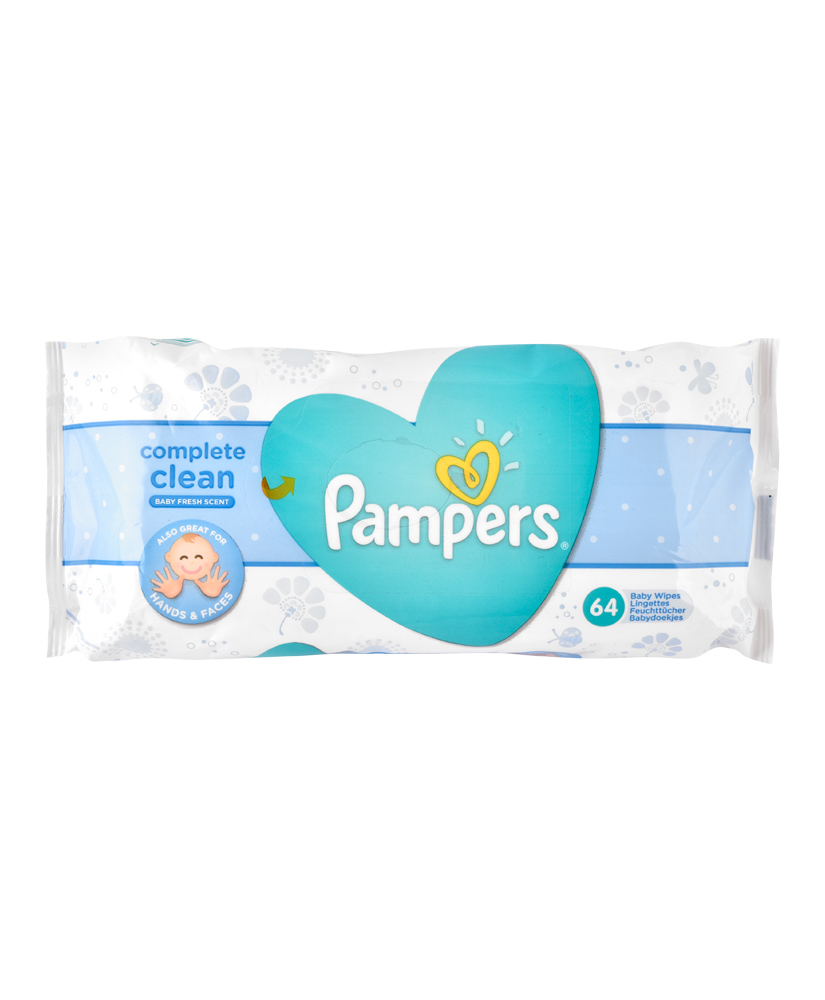 PAMPERS ΜΩΡΟΜΑΝΤΗΛΑ COMPLETE CLEAN 64ΤΜΧ