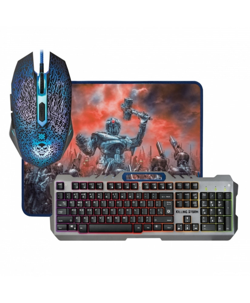DEFENDER MKP-013L KILLING STORM GAMING COMBO MOUSE + KEYBOARD + MOUSE PAD
