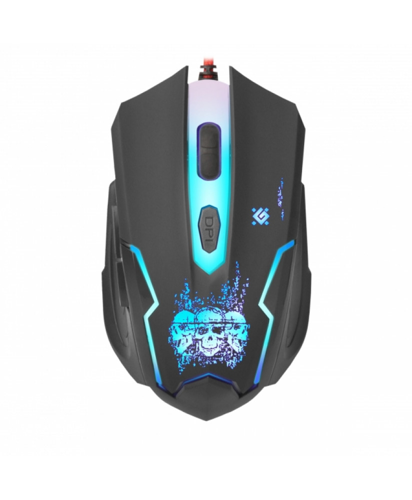 DEFENDER GM-180L SKULL WIRED GAMING OPTICAL MOUSE 3200dpi 6 BUTTONS