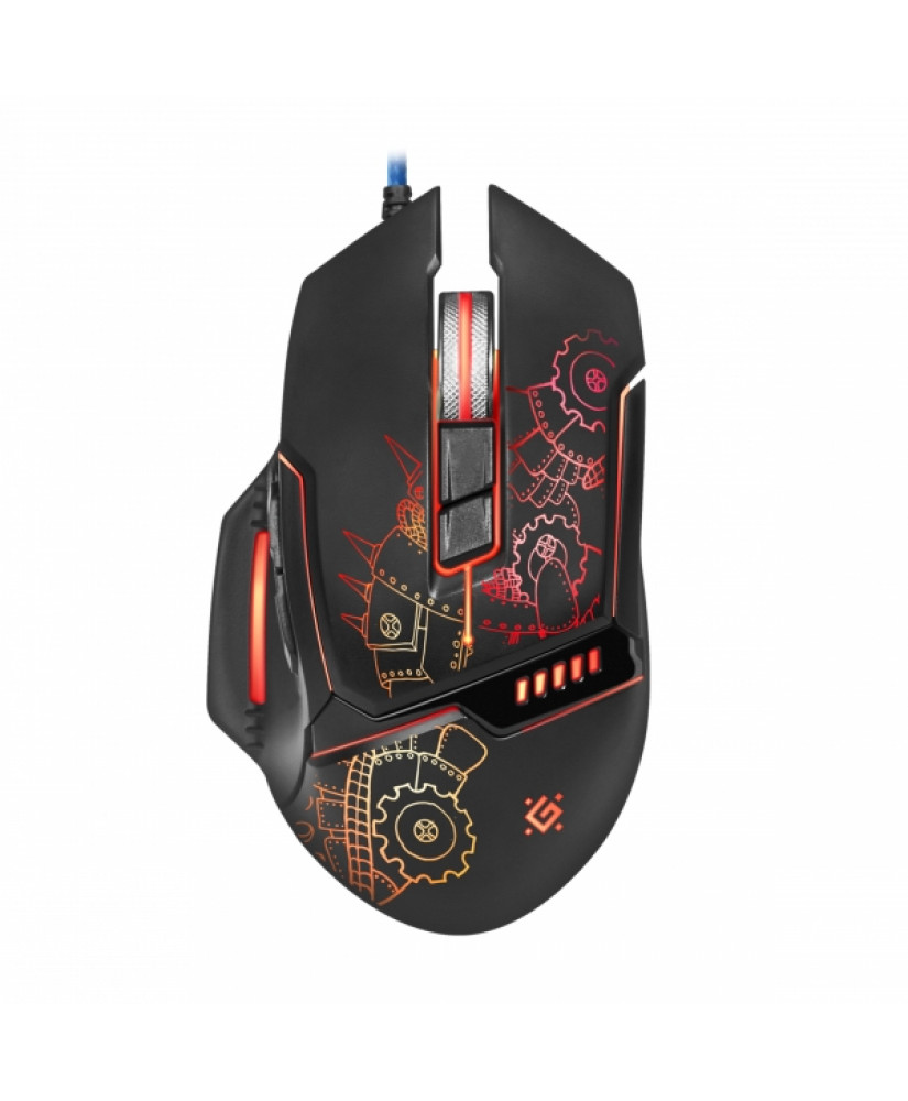 DEFENDER GM-480L KILLEM ALL WIRED GAMING OPTICAL MOUSE 3200dpi 6 BUTTONS