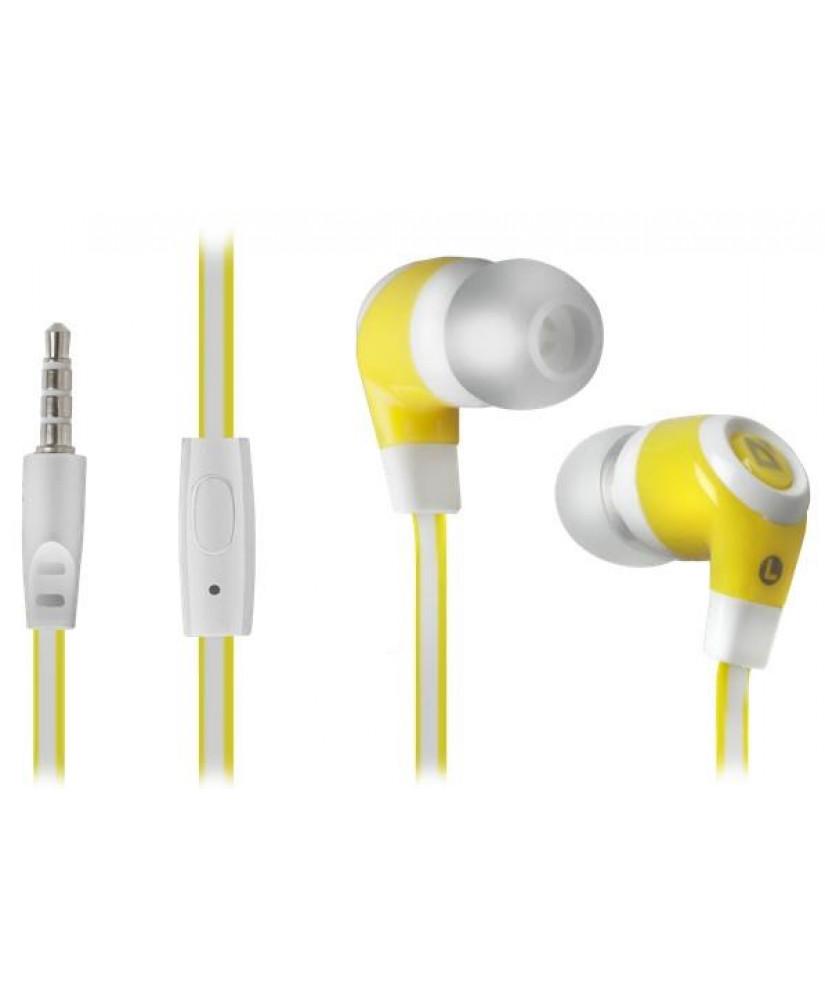 DEFENDER EARPHONES PULSE 430 WHITE & YELLOW