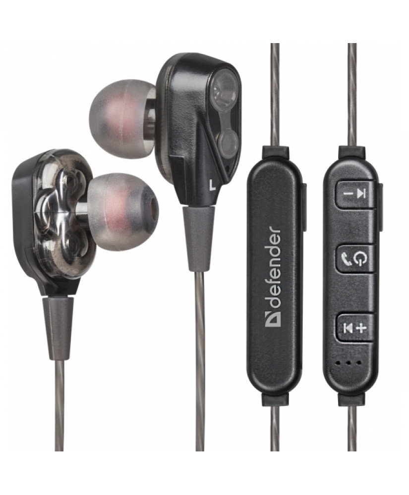 DEFENDER WIRELESS STEREO BLUETOOTH 2 DRIVERS HANDSFREE FREEMOTION B640 black