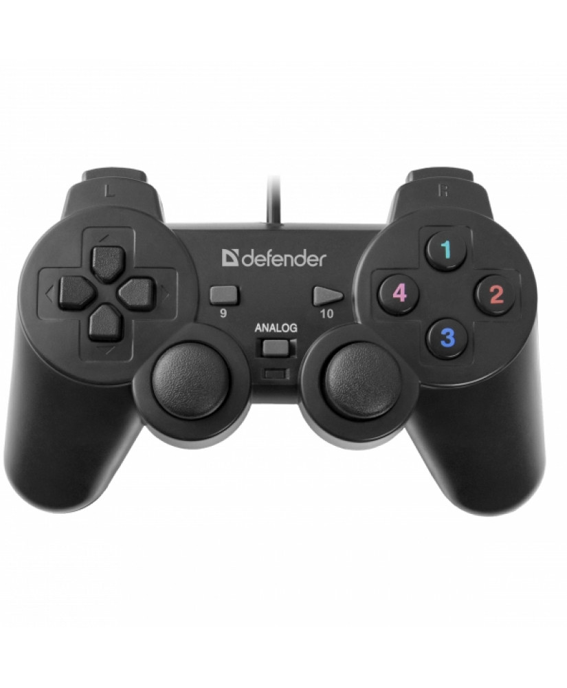 DEFENDER OMEGA GAMEPAD WIRED CONTROLLER PC 12 BUTTONS