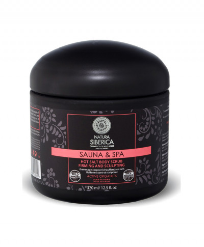 NATURA SIBERICA SAUNA & SPA HOT SALT BODY SCRUB FIRMING AND SCULPTING 370ml