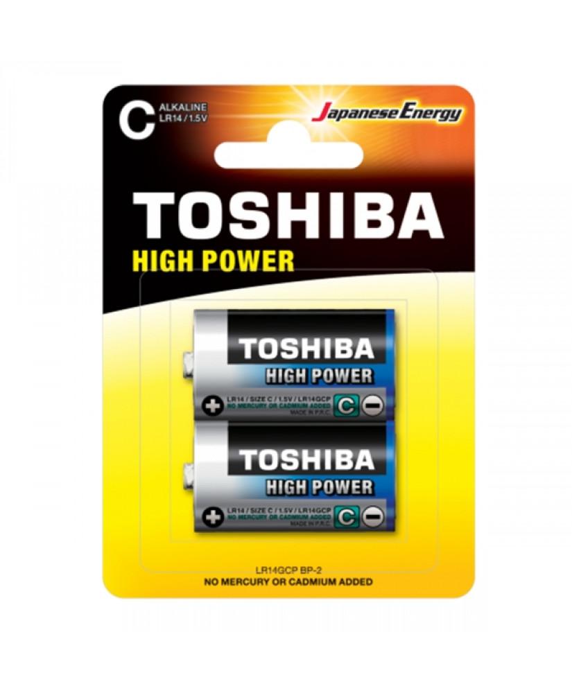 TOSHIBA HIGH POWER ΑΛΚΑΛΙΚΕΣ ΜΠΑΤΑΡΙΕΣ 1.5 V LR14GCP BP-2 2TMX