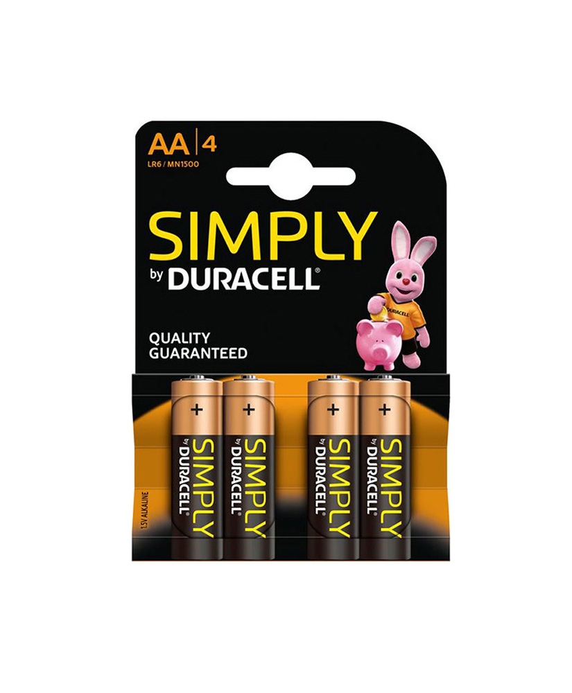 DURACELL SIMPLY ΑΛΚΑΛΙΚΗ ΜΠΑΤΑΡΙΑ AA 4ΤΜΧ