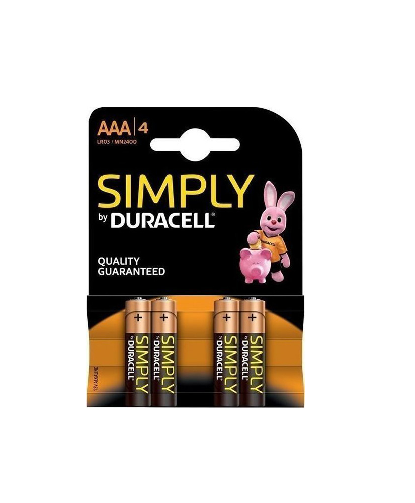 DURACELL SIMPLY ΑΛΚΑΛΙΚΗ ΜΠΑΤΑΡΙΑ AAA 1.5V 4ΤΜΧ