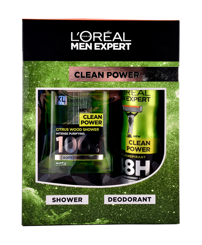 L'OREAL MEN EXPERT CLEAN POWER ΣΕΤ ΔΩΡΟΥ