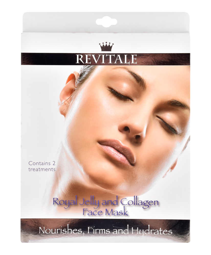 REVITALE ΜΑΣΚΑ ΠΡΟΣΩΠΟΥ ROYAL JELLY & COLLAGEN 2TMX