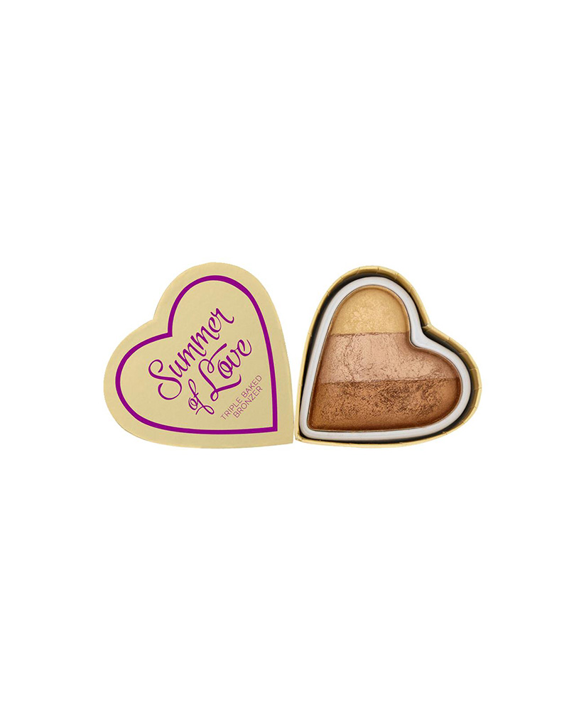 I HEART MAKEUP REVOLUTION ΡΟΥΖ BLUSHING HEARTS BRONZER HOT SUMMER OF LOVE 10gr