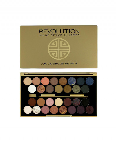 MAKEUP REVOLUTION ΠΑΛΕΤΑ ΜΕ 30 ΣΚΙΕΣ ΜΑΤΙΩΝ BBB FORTUNE FAVOURS THE BRAVE
