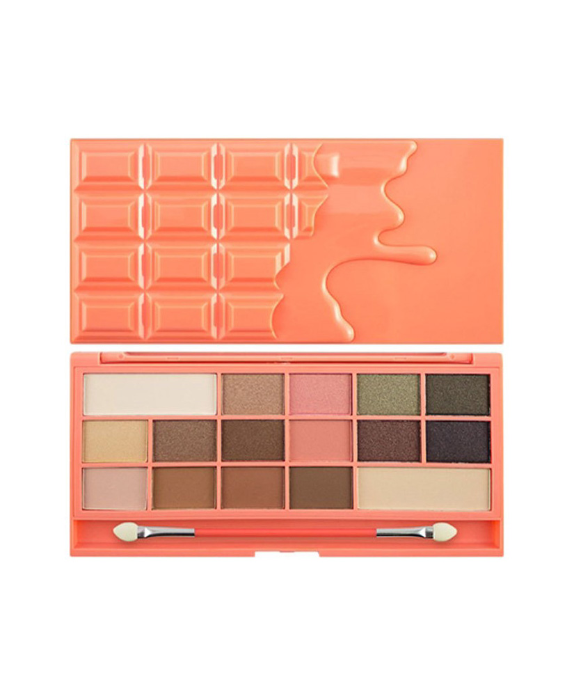 I HEART MAKEUP REVOLUTION ΠΑΛΕΤΑ ΜΕ ΣΚΙΕΣ ΜΑΤΙΩΝ CHOCOLATE & PEACHES  22gr