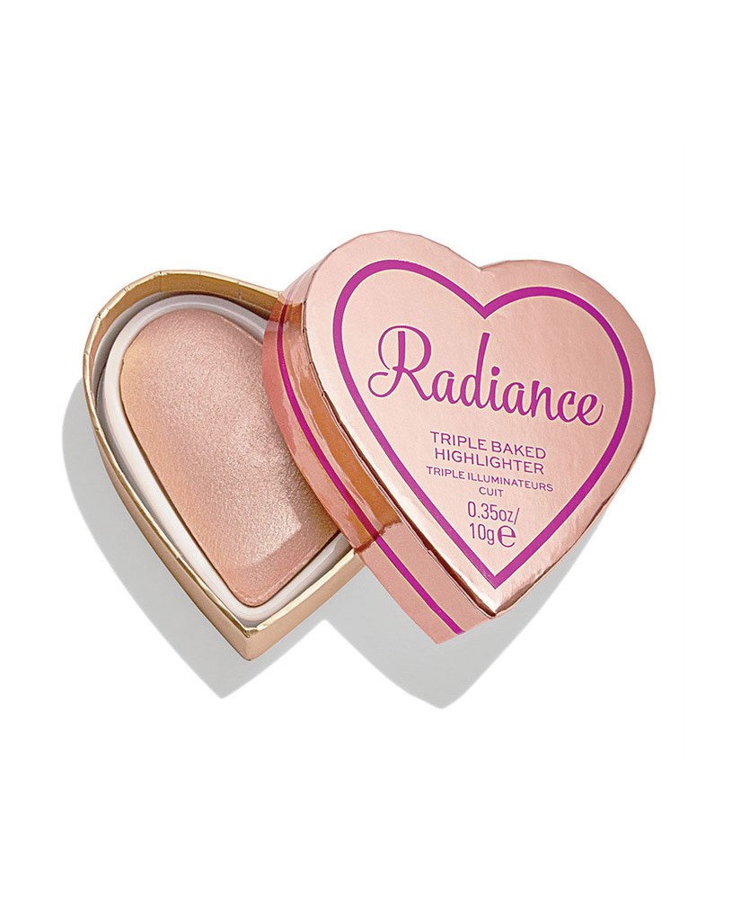I HEART REVOLUTION TRIPLE BAKED HIGHLIGHTER GLOW HEARTS RAYS OF RADIANCE 10gr