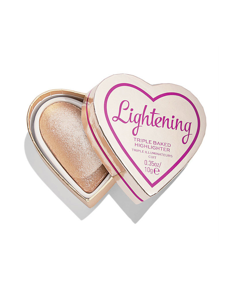I HEART REVOLUTION TRIPLE BAKED HIGHLIGHTER GLOW HEARTS LUMINOUS LIGHTENING 10gr
