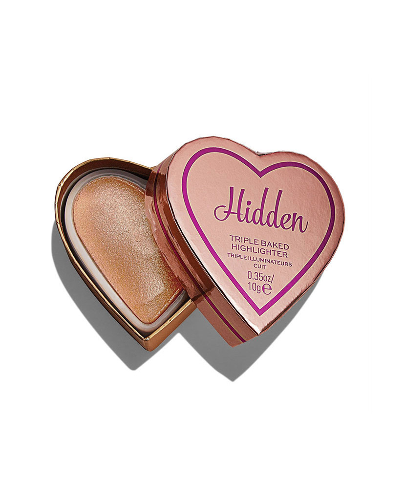 I HEART REVOLUTION TRIPLE BAKED HIGHLIGHTER GLOW HEARTS HARDLY HIDDEN 10gr