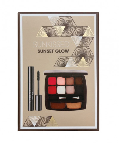SUNKISSED SUNSET GLOW ΣΕΤ ΠΑΛΕΤΑ ΜΑΚΙΓΙΑΖ ΚΑΙ ΜΑΣΚΑΡΑ