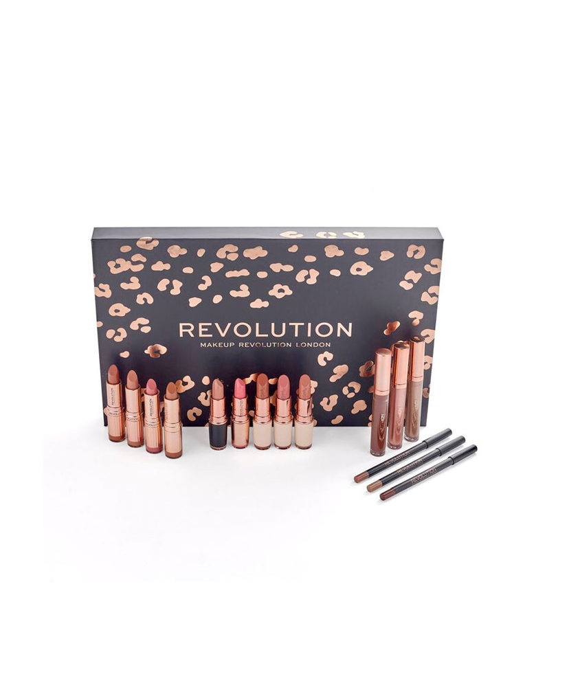 MAKE UP REVOLUTION LIP REVOLUTION NUDES ΣΕΤ NUDE ΚΡΑΓΙΟΝ  12ΤΜΧ