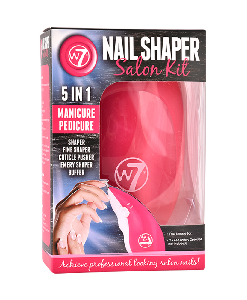 W7 NAIL SHAPER ΤΡΟΧΟΣ ΝΥΧΙΩΝ SALON KIT MANICURE PEDICURE 5 IN 1 6ΤΜΧ