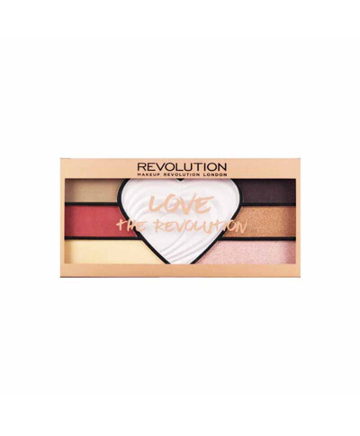 MAKE UP REVOLUTION ΠΑΛΕΤΑ ΜΕ ΣΚΙΕΣ ΚΑΙ HIGHLIGHTERS LOVE THE REVOLUTION