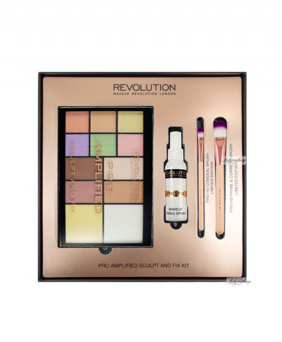 MAKEUP REVOLUTION ΠΑΛΕΤΑ ΠΡΟΣΩΠΟΥ ΣΕΤ PRO AMPLIFIED SCULPT AND FIX KIT 4ΤΜΧ