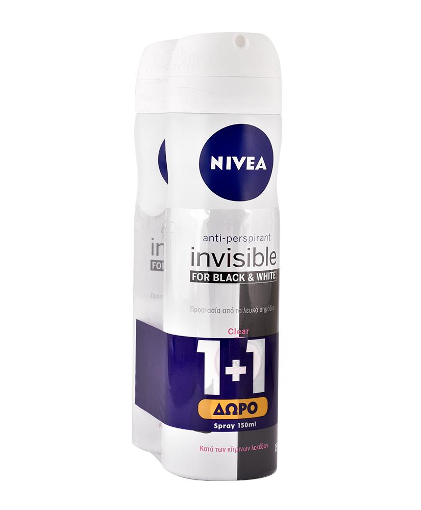 NIVEA INVISIBLE 150ML 1+1 ΔΩΡΟ