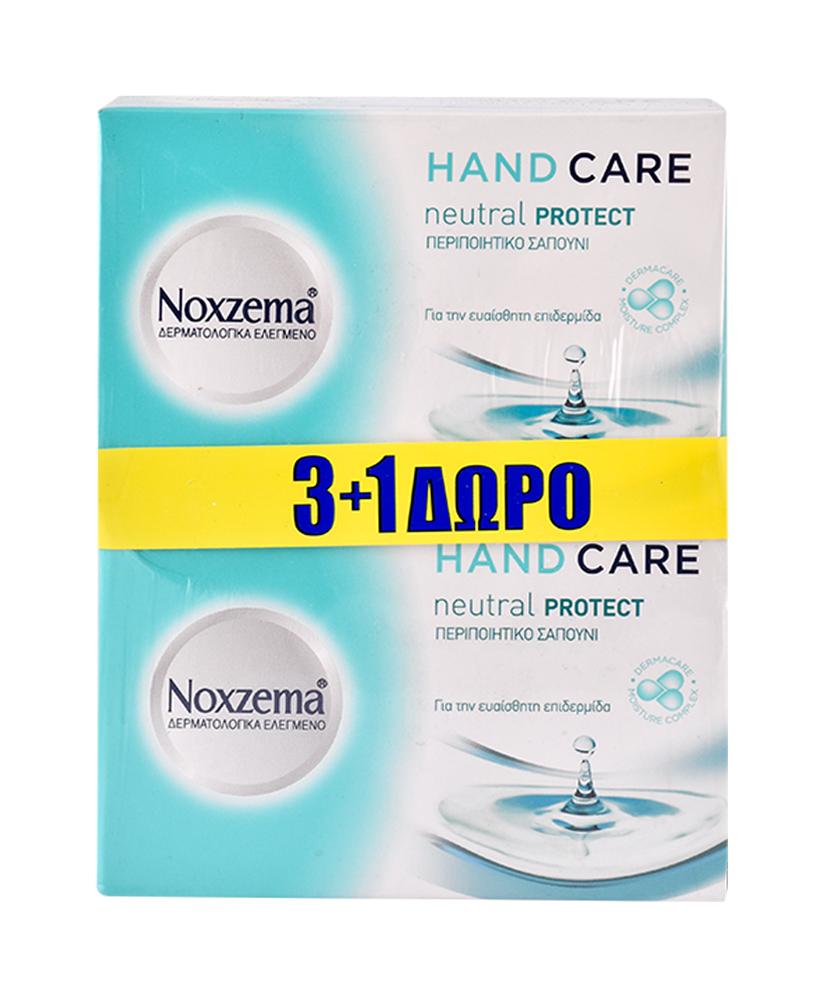 NOXZEMA ΣΑΠΟΥΝΙ NEUTRAL PROTECT 100GR 3+1 ΔΩΡΟ