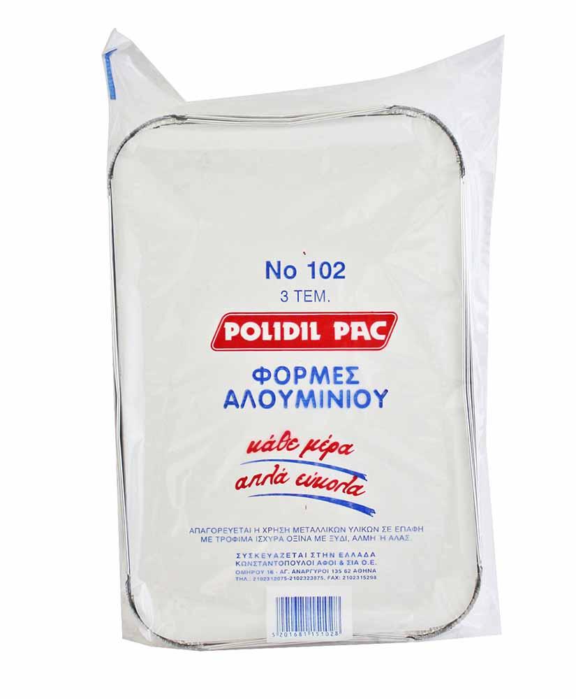 POLIDIL PAC ΦΟΡΜΑ ΑΛΟΥΜΙΝΙΟΥ ΜΕ ΚΑΠΑΚΙ Νο102 3TΜΧ