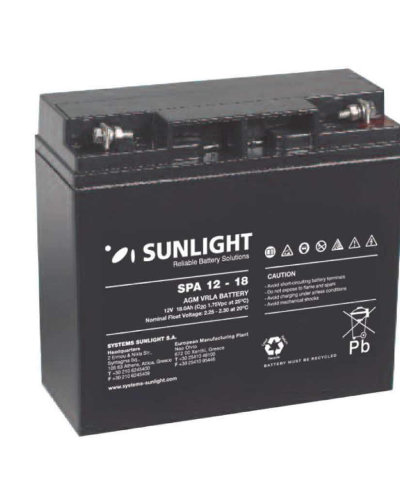 SUNLIGHT BATTERY 12V 18AH