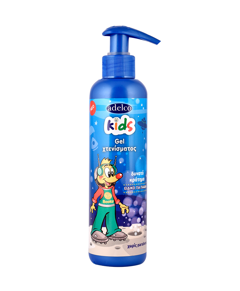 ADELCO KIDS GEL ΜΑΛΛΙΩΝ 200ML ΔΩΡΟ ΜΑΝΤΗΛΑΚΙΑ