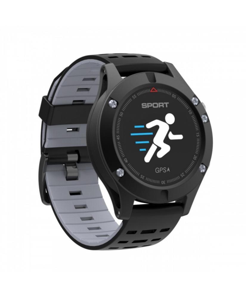 SW AF5 SMART WATCH GPS FITNESS black gray