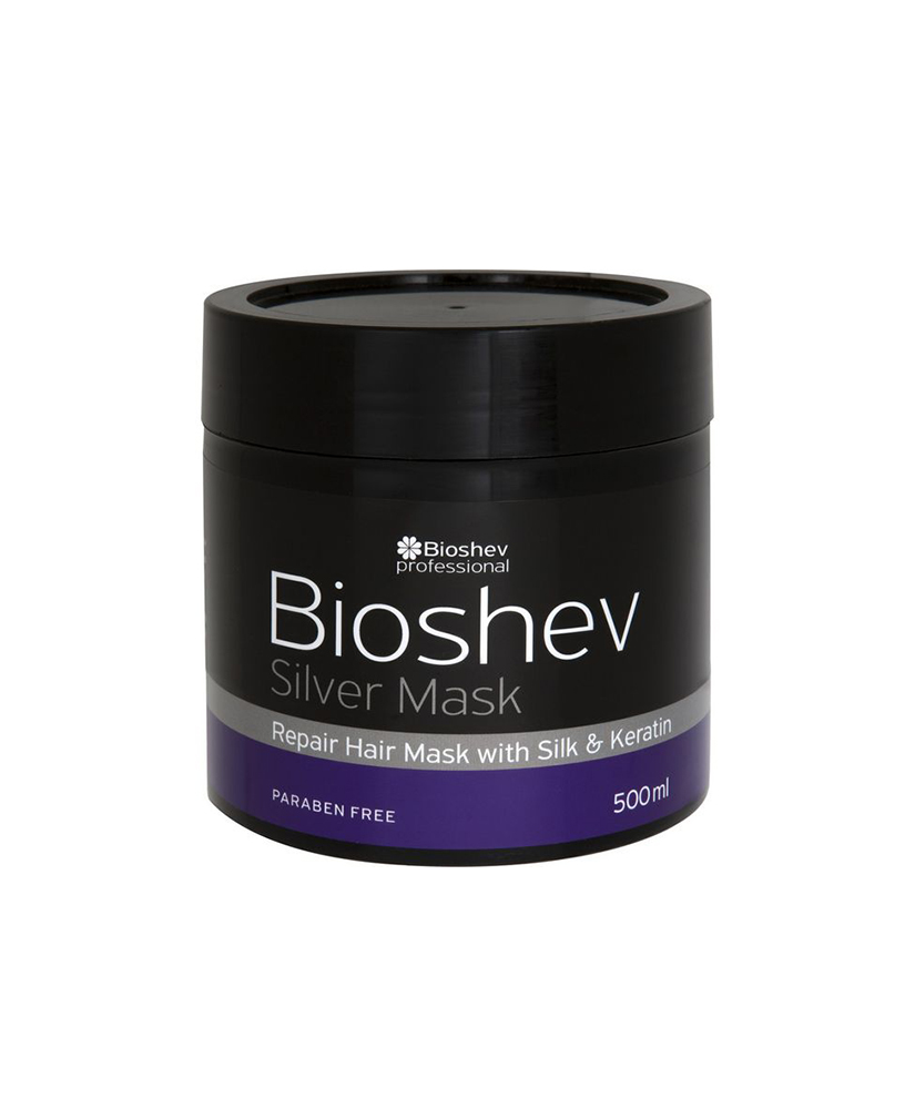 BIOSHEV ΜΑΣΚΑ SILVER REPAIR WITH SILK &  KERATIN 500ml