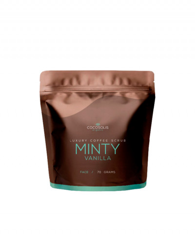 COCOSOLIS SCRUB ΠΡΟΣΩΠΟΥ LUXURY COFFEE BIO MINTY VANILLA 70gr