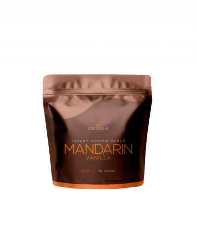 COCOSOLIS SCRUB ΣΩΜΑΤΟΣ LUXURY COFFEE BIO MANDARIN VANILLA 70gr