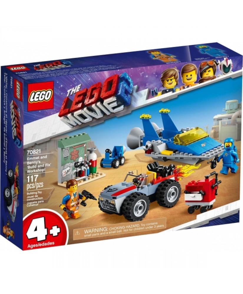 LEGO MOVIE EMMET AND BENNY'S BUILD AN FIX WORKSHOP ( 70821)